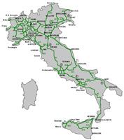 olasz autópálya térkép